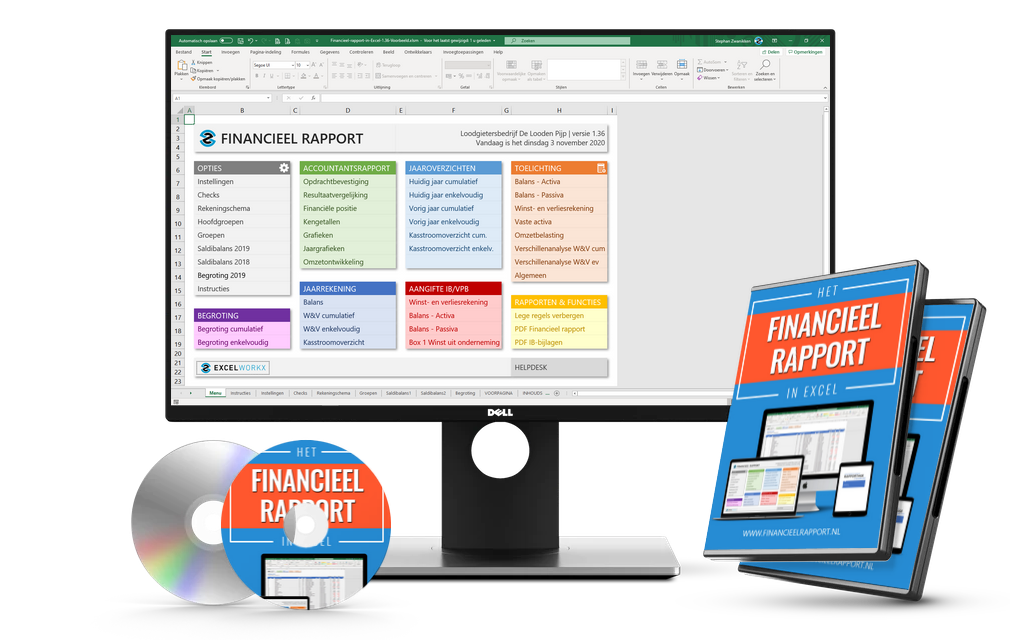 Financieel Rapport in Excel Softwarebundel